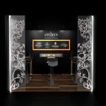 Espace lounge, annexe du stand Spirit au Tax Free de Cannes