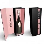 Design du coffret Haute Couture de la cuvée millésimé Celebris pour Gosset.