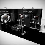 Design du stand Panerai au salon Belles Montres