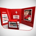 conception du stand Ferrari pour Perfume Holding au salon Tax Free de Cannes