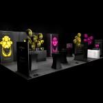 Création avec Go For Hit de l'espace Dom Pérignon pour le panorama champagnes à MIllésima
