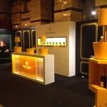Création avec Go For Hit du stand Veuve Clicquot pour le panorama champagnes à Millésima
